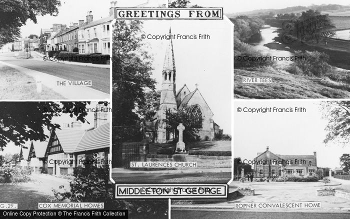 Photo of Middleton St George, Composite c.1960