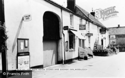 Middlezoy, The Barn House Stores And George Inn c.1960