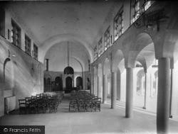 Midhurst, King Edward Vii Sanatorium Chapel Interior 1920