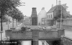 Midsomer Norton, The War Memorial And River Somer c.1965