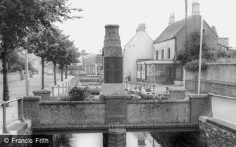 Midsomer Norton, the War Memorial and River Somer c1965