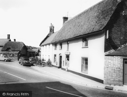The Square And Post Office c.1960, Milborne St Andrew