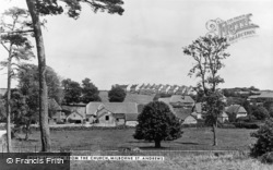 View From The Church c.1955, Milborne St Andrew