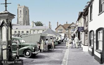 Mildenhall, Market Place c1955