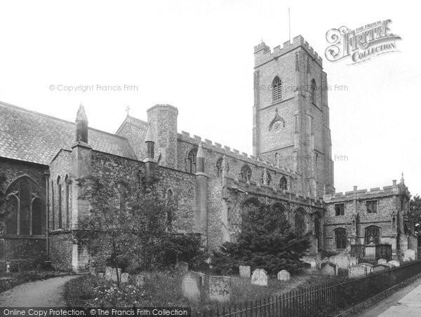 Mildenhall, St Mary's Church 1925