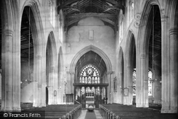Mildenhall, St Mary's Church, Interior 1925