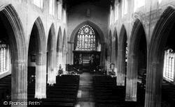 Mildenhall, St Mary's Church Interior c.1955