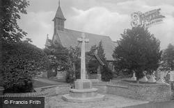 Milford, Church Of St John And War Memorial 1921