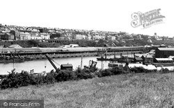 Milford Haven, The Docks And Town From Hakin 1951