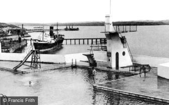 Milford Haven, the Swimming Pool 1948