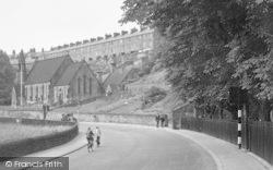 Milford, Holy Trinity Church From The Bridge c.1955