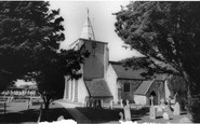 Milford on Sea, All Saints Church c1960