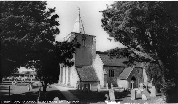 Photo of Milford on Sea, All Saints Church c1960