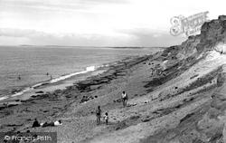 Hordle Cliff Beach c.1955, Milford On Sea