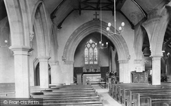 Milford, St John's Church Interior 1906