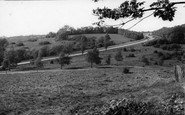 Mill Hill, Barnet Way from Moat Mount c1955