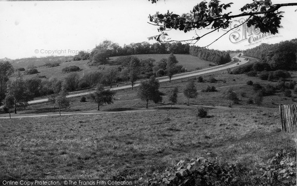 Photo of Mill Hill, Barnet Way from Moat Mount c1955