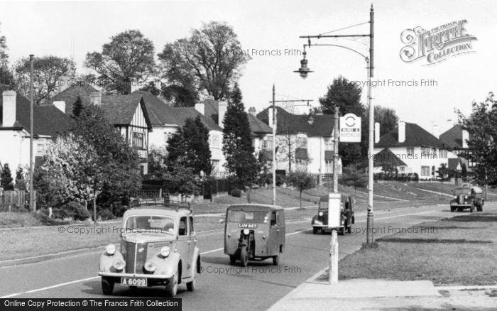 Photo of Mill Hill, Cars In Watford Way c.1955