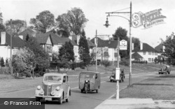 Mill Hill, Cars In Watford Way c.1955