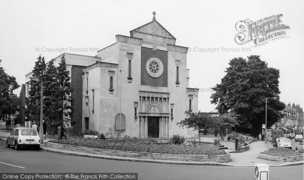 Photo of Mill Hill, Catholic Church And Broadway c.1969