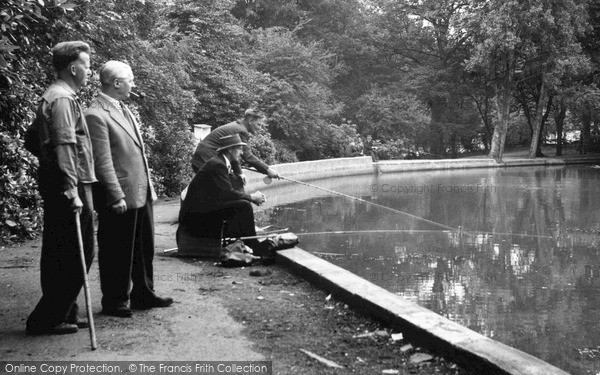 Photo of Mill Hill, Fishing, Moat Mount c.1960