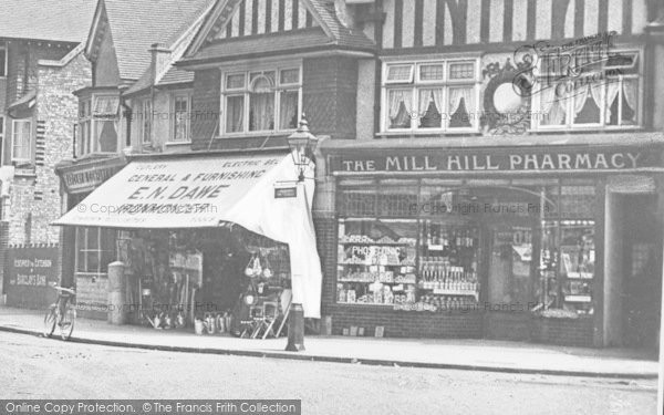 Photo of Mill Hill, The Mill Hill Pharmacy, The Broadway c.1915