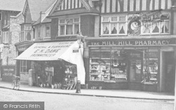Mill Hill, The Mill Hill Pharmacy, The Broadway c.1915