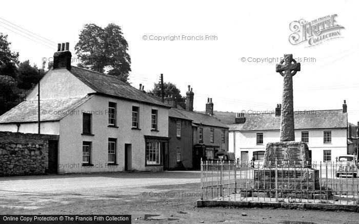 Photo of Millbrook, Square And War Memorial c.1955