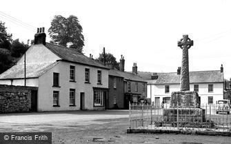 Millbrook, Square and War Memorial c1955