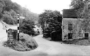 Millers Dale, the Road to Litton Mill c1955