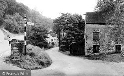 The Road To Litton Mill c.1955, Miller's Dale