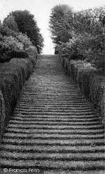 Milton Abbey, Steps Leading To St Catherine's Chapel c.1965, Milton Abbas