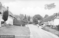 Milton Abbas, The Village Street c.1955