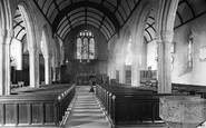 Milton Abbot, Church interior 1910