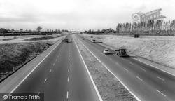 Milton Keynes, The M1 At Junction 14 c.1965