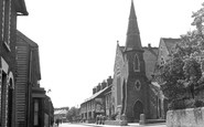 Milton Regis, Crown Road and Congregational Church c1955