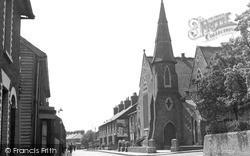 Milton Regis, Crown Road And Congregational Church c.1955