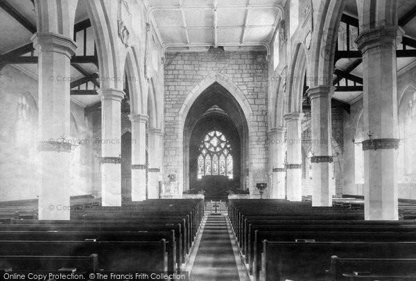 Minchinhampton, Church interior 1901