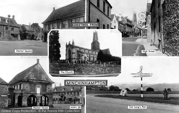 Photo of Minchinhampton, Composite c.1955