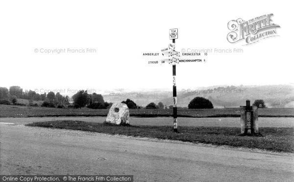 Photo of Minchinhampton, Tom Long's Post c.1960