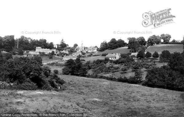 Minchinhampton, view from Forwood c1955