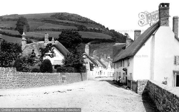 Photo Of Minehead Quay Street Old Town 1890