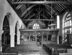 St Michael's Church, Interior 1930, Minehead