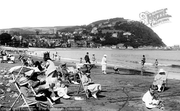 Photo of Minehead, The Sands And North Hill 1923