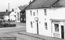 Misterton, The Windmill Inn And Butchers Shop 1960
