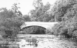 Mitford, The River And Bridge c.1954