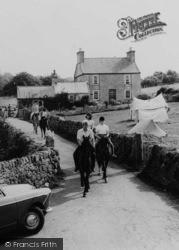Horse Riding At Melin Rhos Farm c.1965, Moelfre