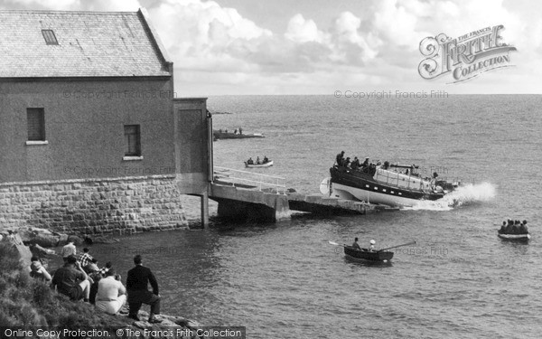 Moelfre, Launching Of The Lifeboat c.1960