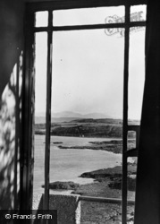 Moelfre, Snowdon Through A Window c.1955