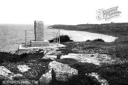 The Royal Charter Memorial And Porth Alerth c.1936, Moelfre